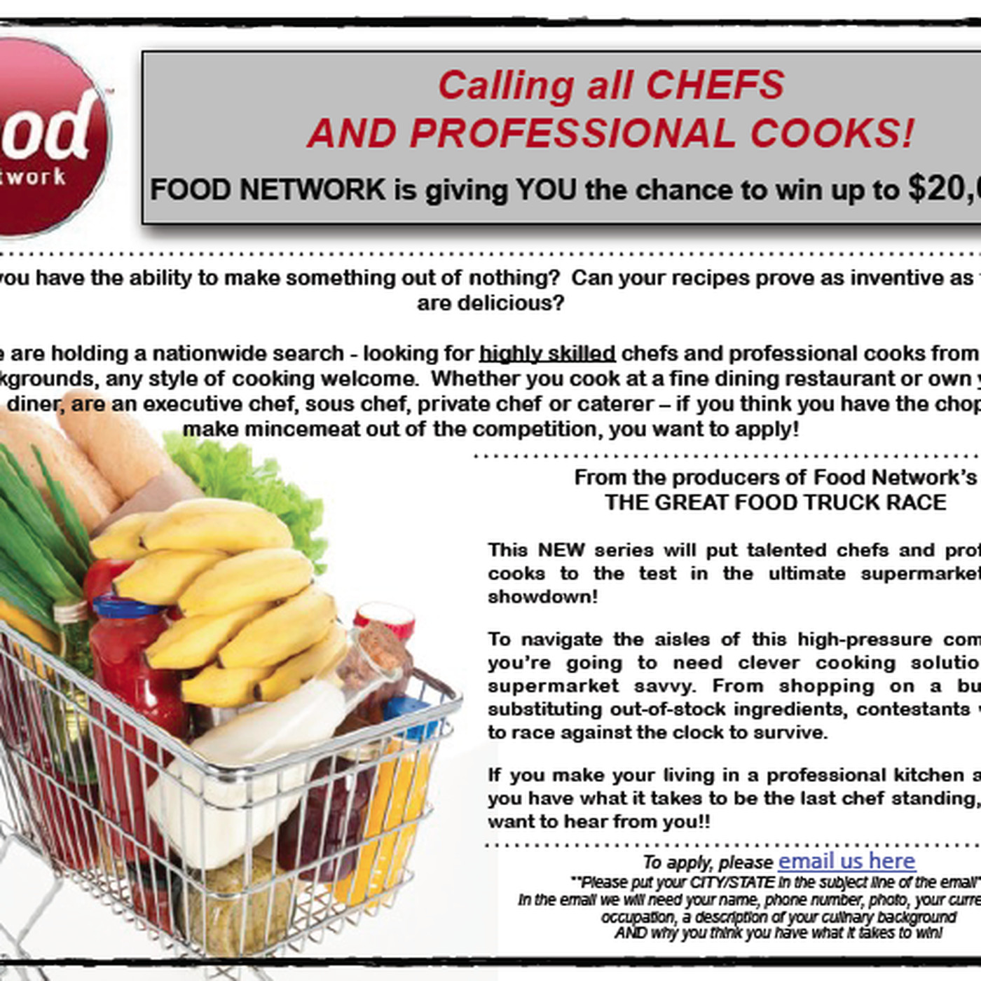 Food network now casting for grocery games show eater forumfinder Choice Image