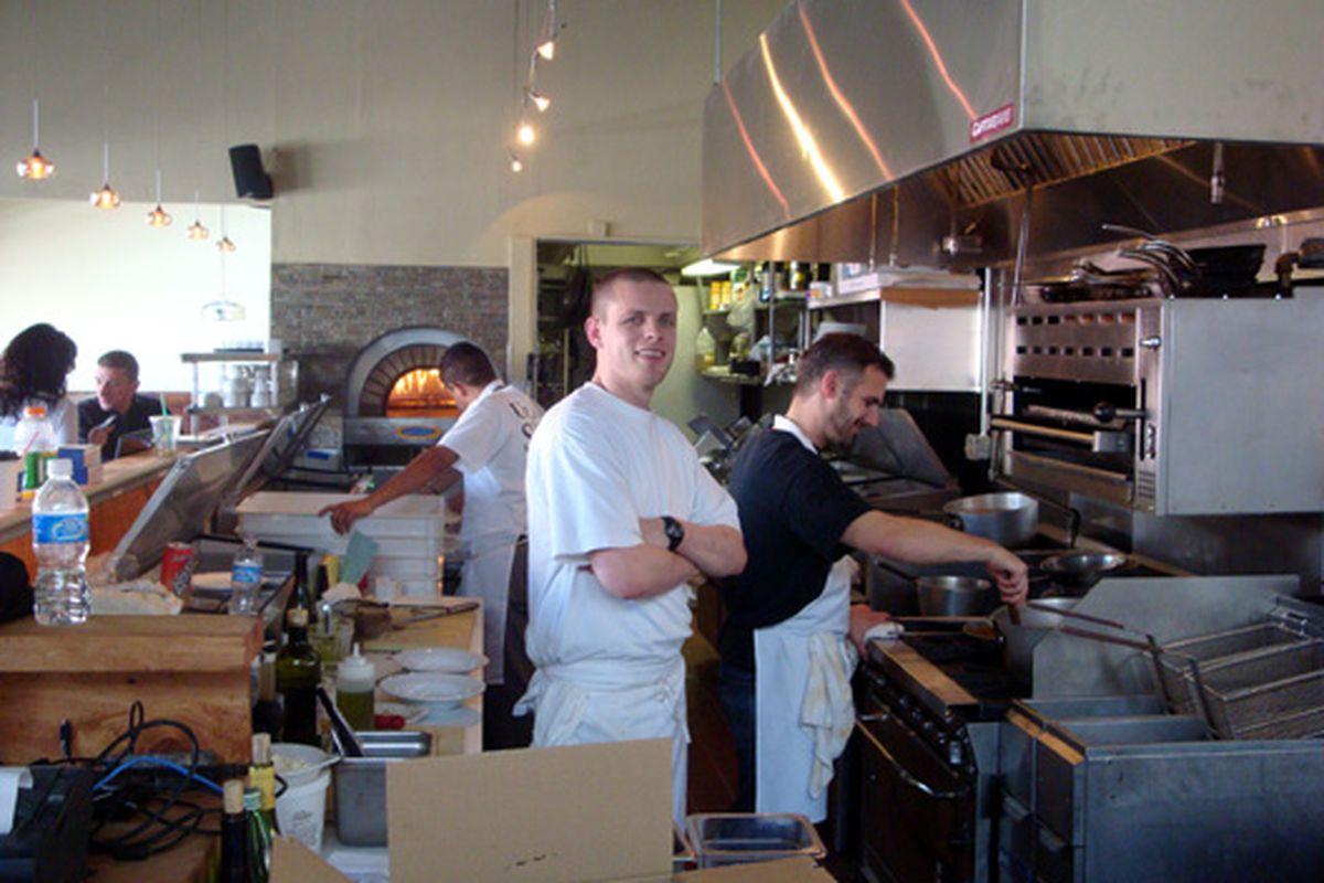 Tastings underway, kitchen abuzz at Potrero's Pizza Nostra.