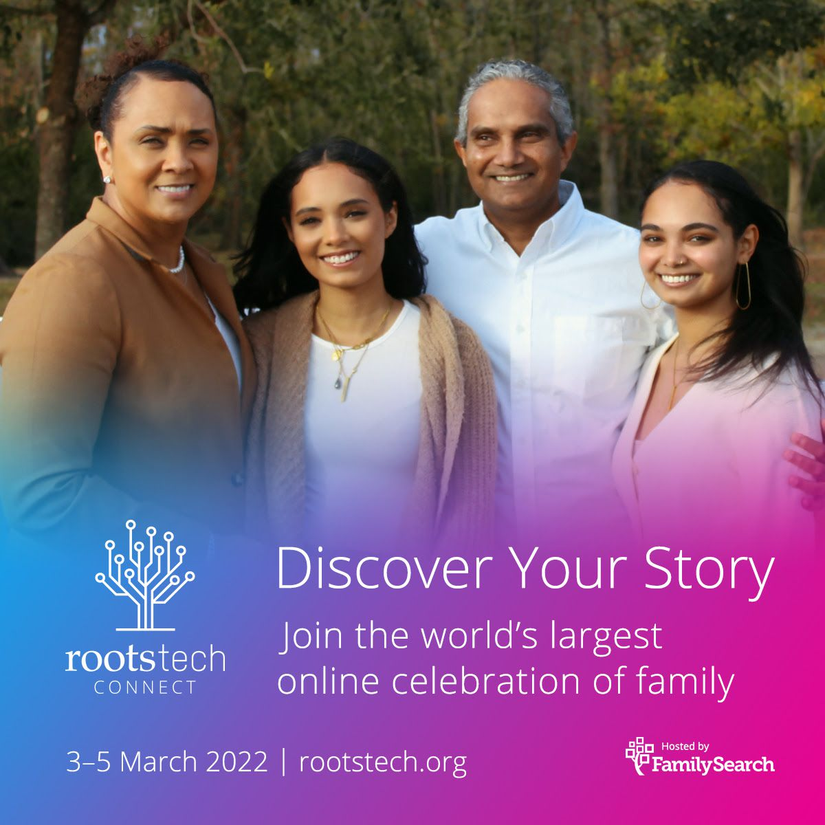 FamilySearch announced that RootsTech 2022 will take place March 3-5.