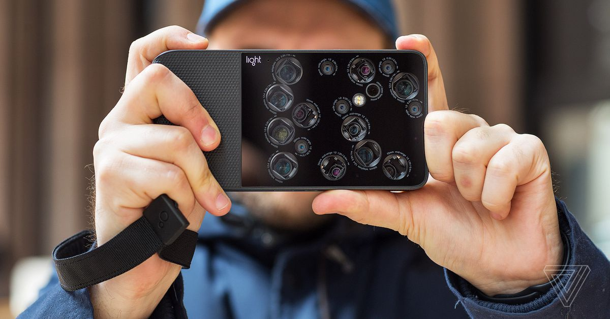 Light L16 camera: 16 cameras in one device. The verge offers a pretty good insight into the functionality.