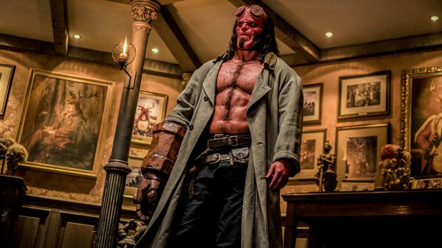 David Harbour as Hellboy.