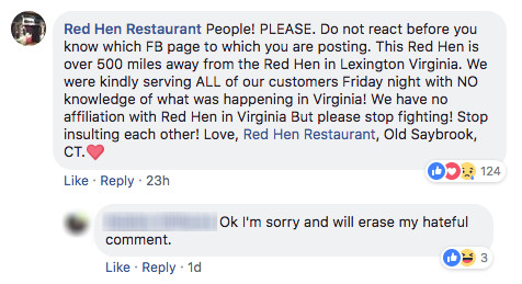 Red Hen In Connecticut