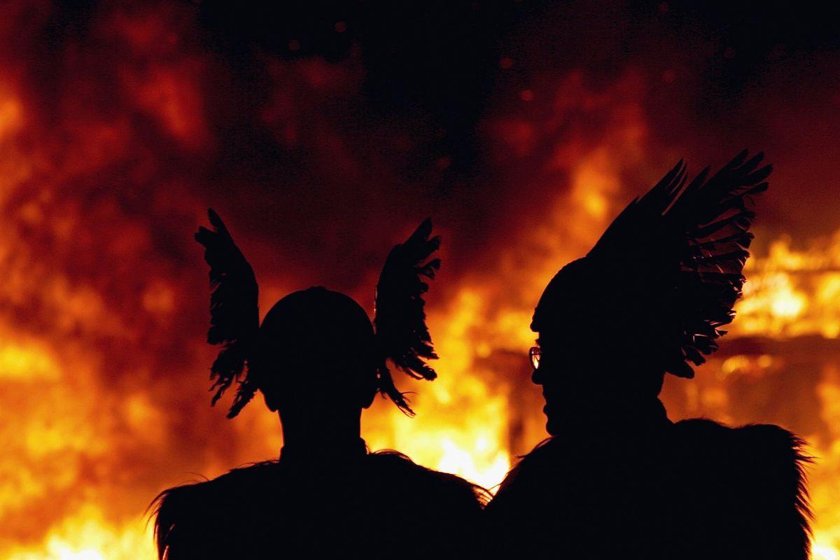 Up Helly Aa Fire Festival In Shetland