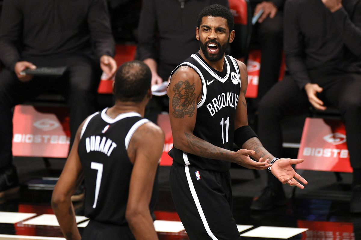 Brooklyn Nets Lineup Update Kyrie Irving Questionable Kevin Durant Probable Sunday Vs Thunder Draftkings Nation