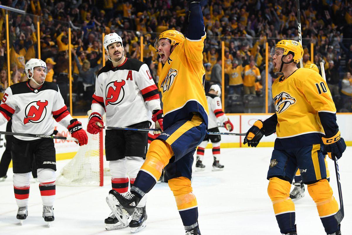 NHL: New Jersey Devils at Nashville Predators