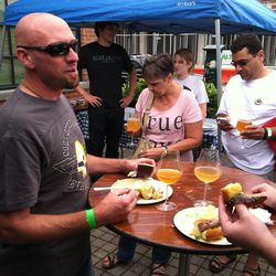 About a half-dozen Bluejacket beers were on tap at the DC Beer Week close out event on Sunday.