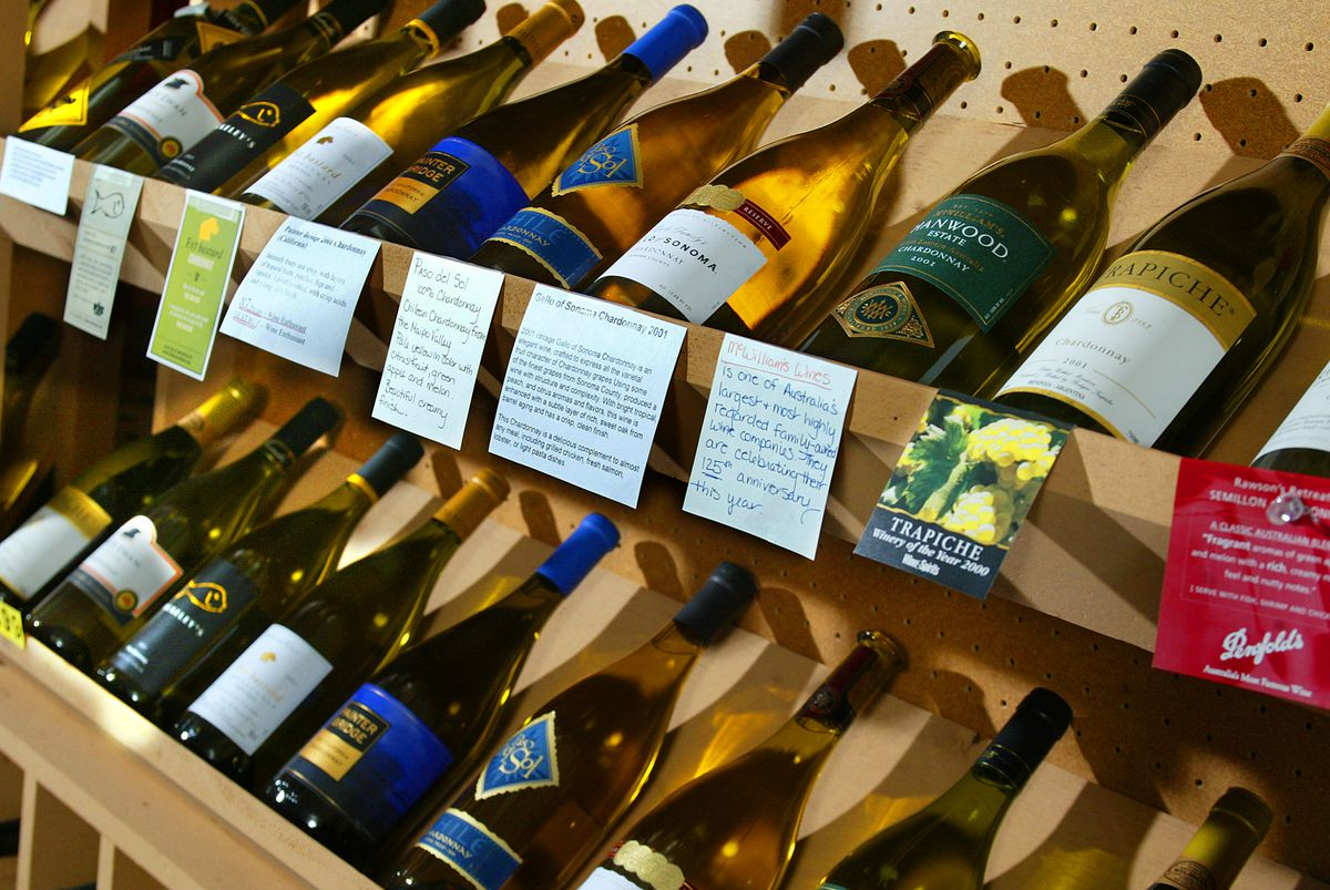A wine store in Los Angeles.
