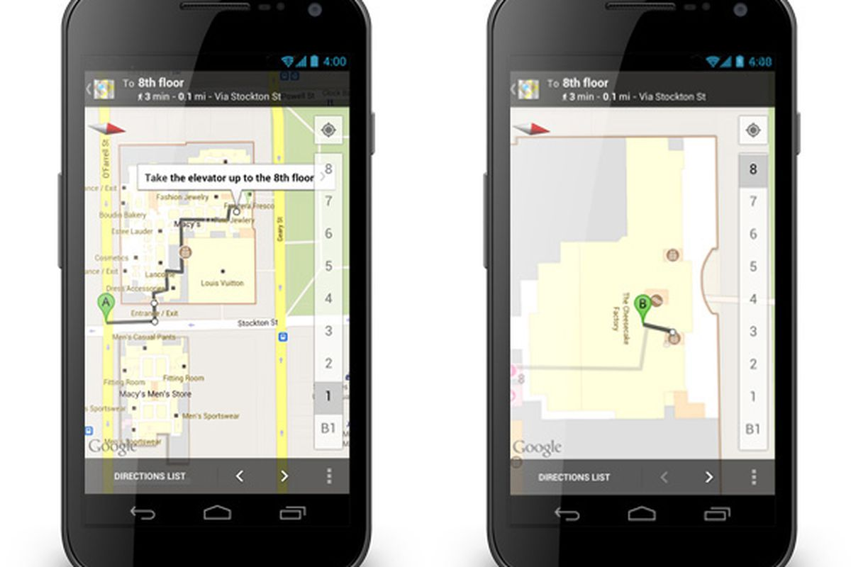 Google Maps for Android gets Offers and indoor walking ... on google world map, maps driving directions, google mapss, bing maps walking directions, maps and directions, map for directions,