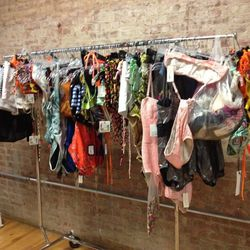 Swimwear for the girls. There is an equal amount of trunks for dudes.