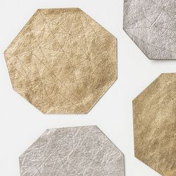 """<b>Anthropologie</b> Leather Theorem Coasters, <a href=""""http://www.anthropologie.com/anthro/product/search/26391649.jsp?cm_vc=SEARCH_RESULTS"""">$42</a> for four"""