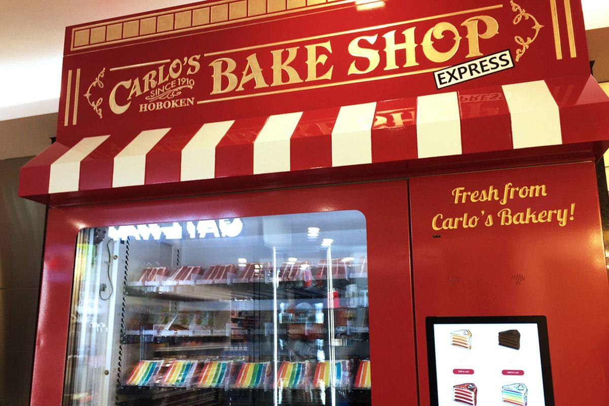 Cake Boss star Buddy Valastro's new Carlo's Bake Shop vending machine in Toronto.