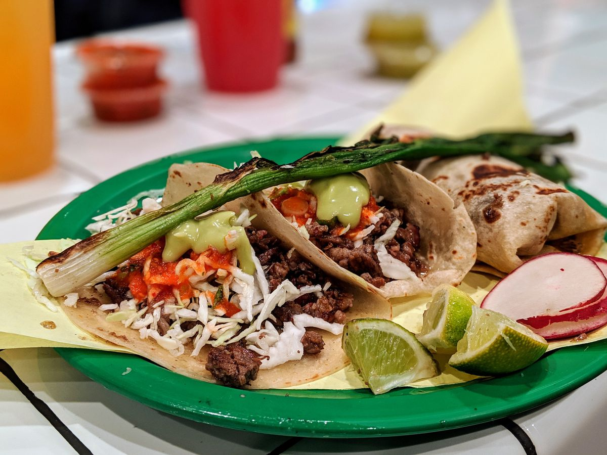 Tacos from Sonoratown.