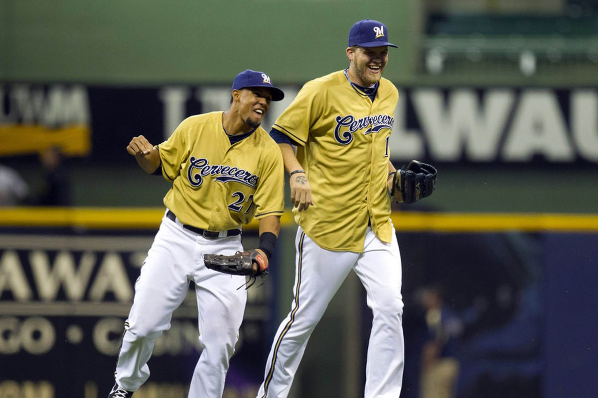 buy online 22c47 780ad Brewers announce gold alternate jerseys, seem as ...