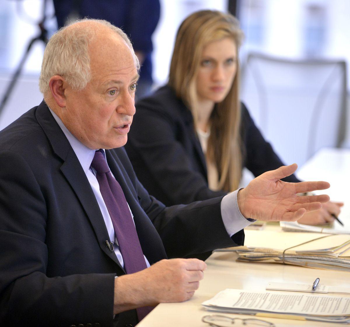 Gov. Pat Quinn and his press secretary Brooke Anderson in March 2014.   Sun-Times