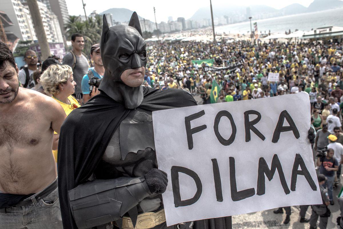 Brazil protest Batman Rio