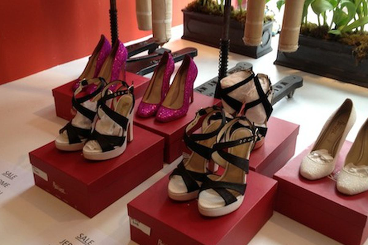 """Jerome Rousseau shoes at the Tucker <a href=""""http://ny.racked.com/archives/2013/04/11/heres_why_you_may_want_to_stop_at_the_tucker_sample_sale.php"""">sample sale</a>"""