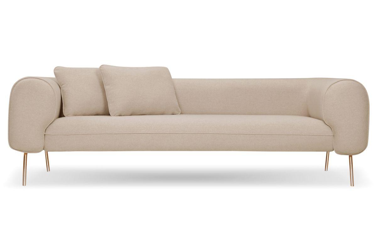 Arm Sofa In Cream Felt 1 499