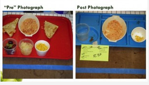 Researchers used digital photography as a less messy way to determine how much food students wasted.