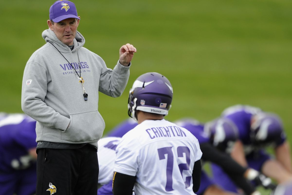 Pictured: Mike Zimmer, the coach. Not pictured: Mike Zimmer, the linebacker.