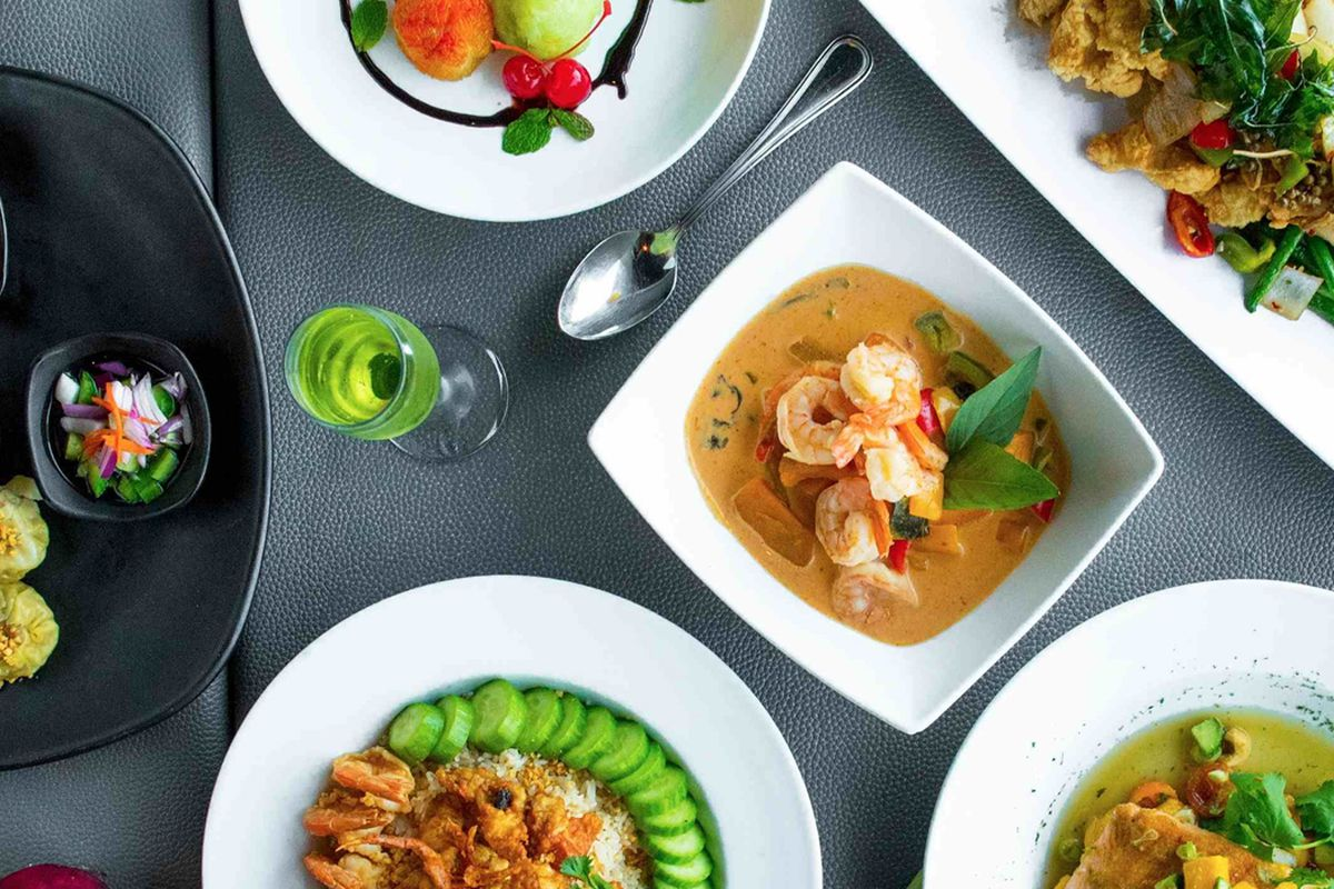 An array of Thai dishes