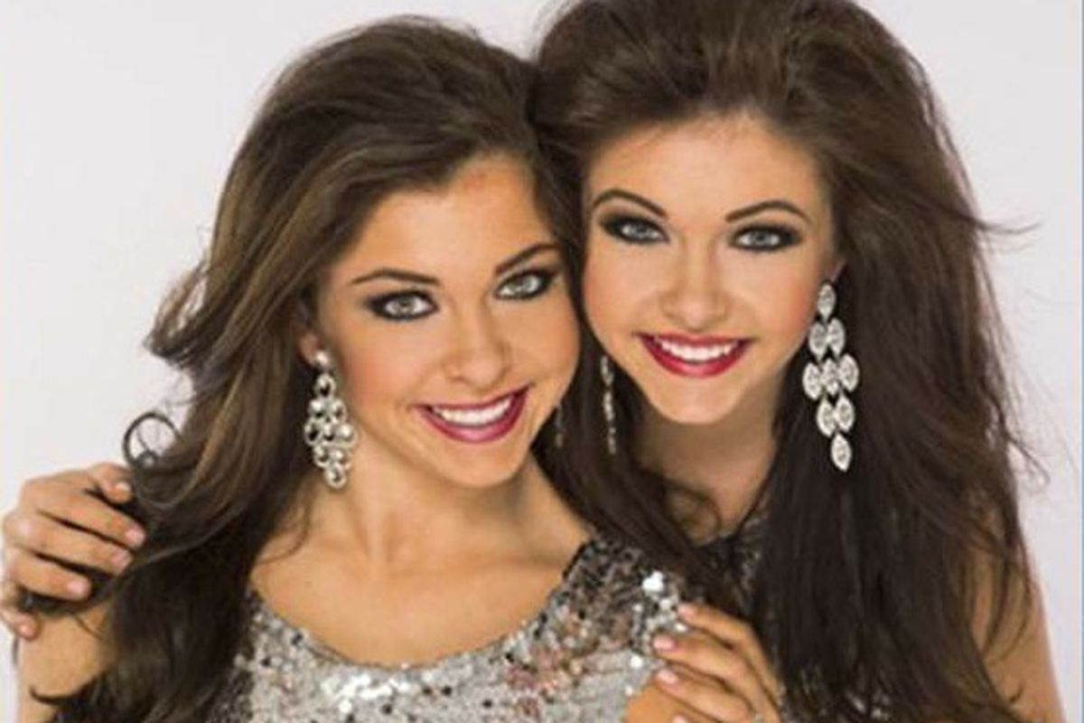 Amy Smith, shown here with her sister, Ellie, plans to compete in Miss America's Outstanding Teen Pageant next week.