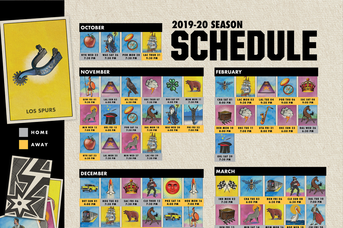 The Spurs' 2019-20 schedule analysis