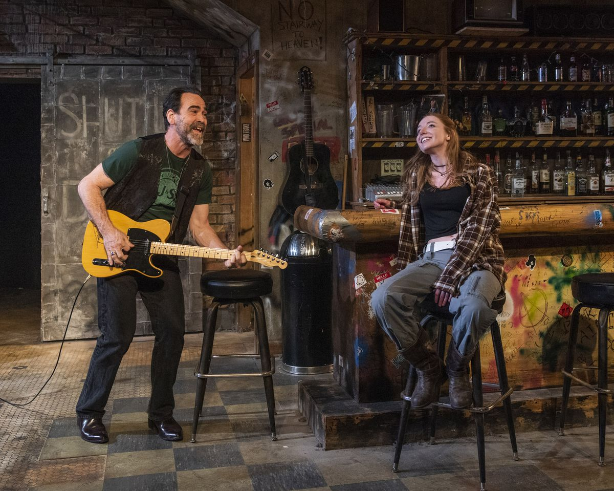 """Jeff MillsandLindsay StockinRaven Theatre'sChicago production of """"The Undeniable Sound of Right Now."""""""
