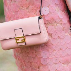 Pink on pink — ultra feminine, ultra right.