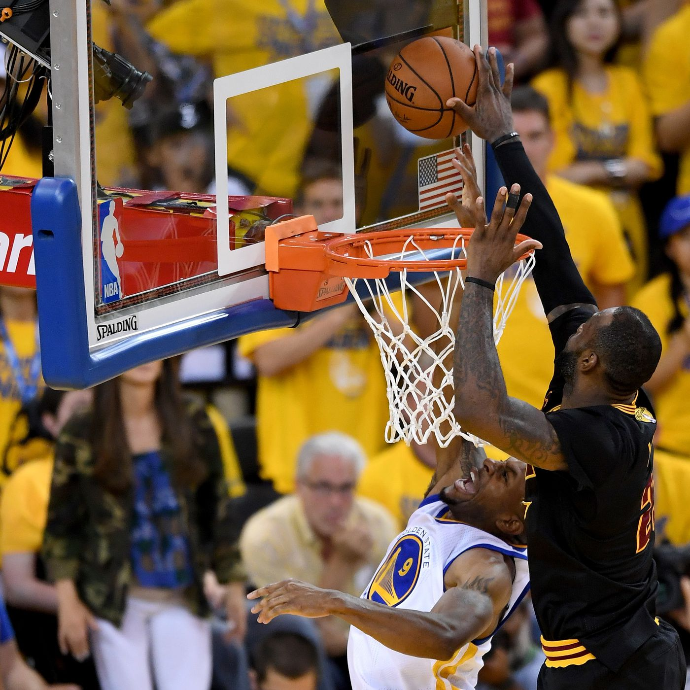 98ff153ff557 LeBron's block on Andre Iguodala was the NBA Finals' perfect ending -  SBNation.com