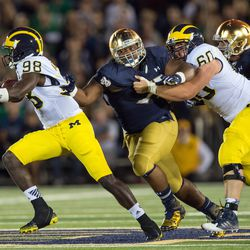 """CAGE (referred to as """"A Dude"""" on-air) clamps onto Tom Harmon--er, Devin Gardner"""