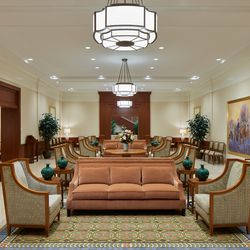 A waiting room in the Pocatello Idaho Temple.