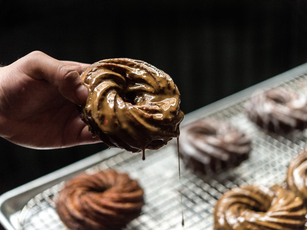 A cruller being made at Daily Provisions