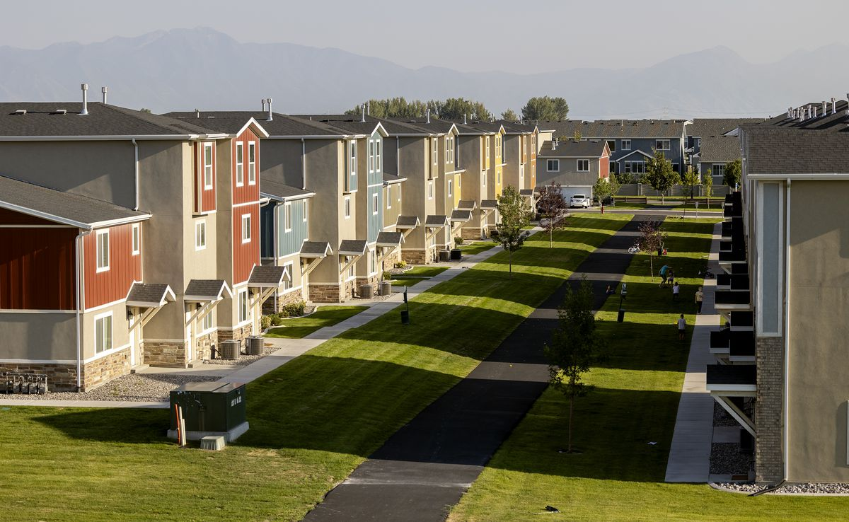 New housing in Vineyard is pictured on Wednesday, Aug. 11, 2021.