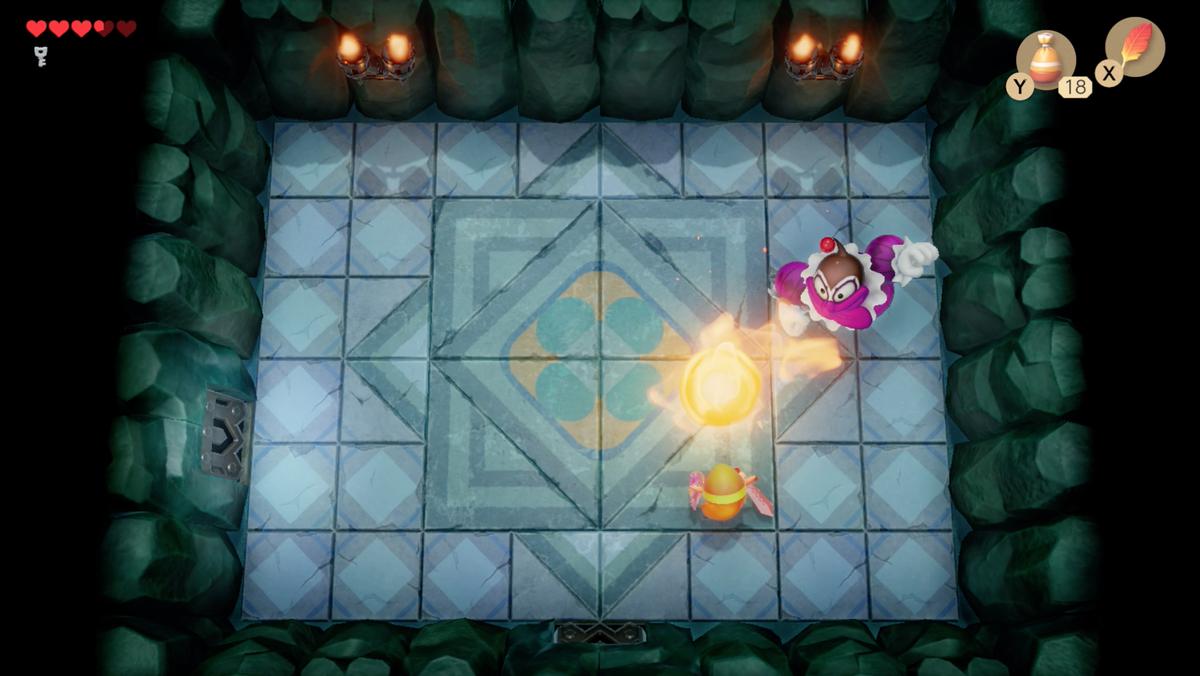 Link's Awakening Bottle Grotto Genie boss fight phase 2