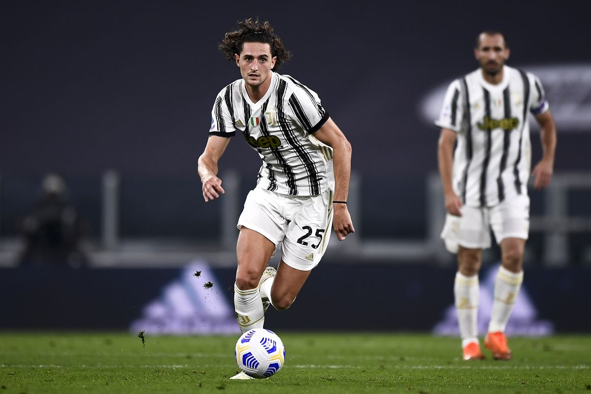 Adrien Rabiot of Juventus FC in action during the Serie A...