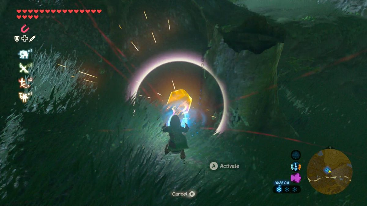 Zelda Breath Of The Wild Guide How To Increase Your Inventory Polygon As For Hop Up Ball Thingy I Just Found Tiny Metal Balls From An A Few Times You Will Find On Chain Have Use Magnesis Place Into Nearby Depression Or Like Youll See Below