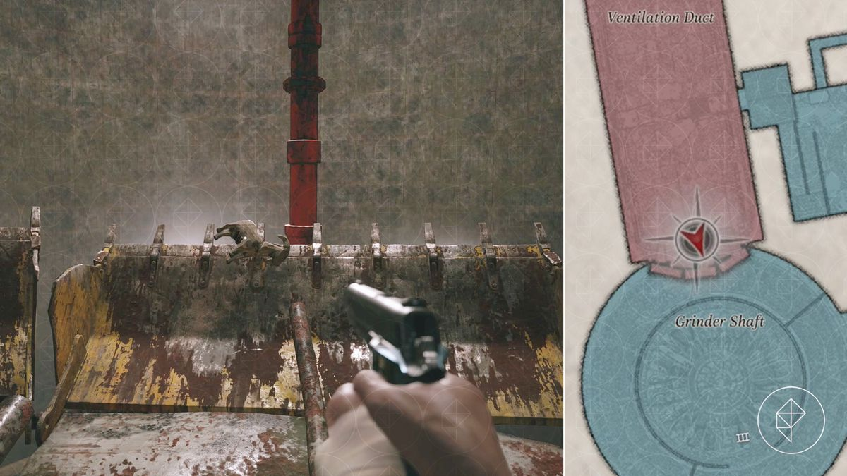 Resident Evil Village Goat of Warding collectible Grinder Shaft Heisenberg's Factory map location