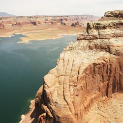 Boaters travel along the main channel between Dangling Rope Marina and Wahweap Marina on Lake Powell Friday, June 21, 2013. There has been debate on whether recreation areas and national parks in Utah should be opened and run by the state during the federal government shutdown.