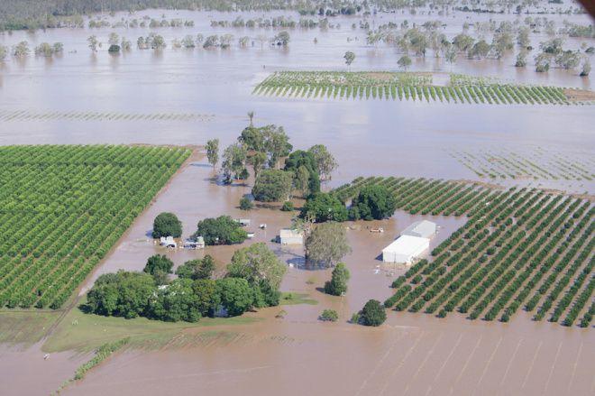 A flooded farm