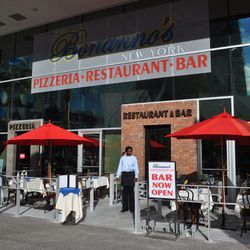 Bonanno's New York Pizzeria offers take-out or full service seating.