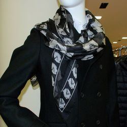 The Barneys limited-editon Alexander McQueen silk scarf for FNO