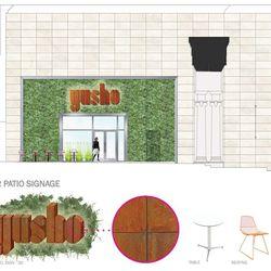 The patio at Yusho