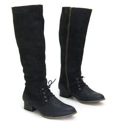 """J Shoes Chariot: originally $239, now $155.35. """"Polished, practical, vintage-inspired tall black boot!"""""""