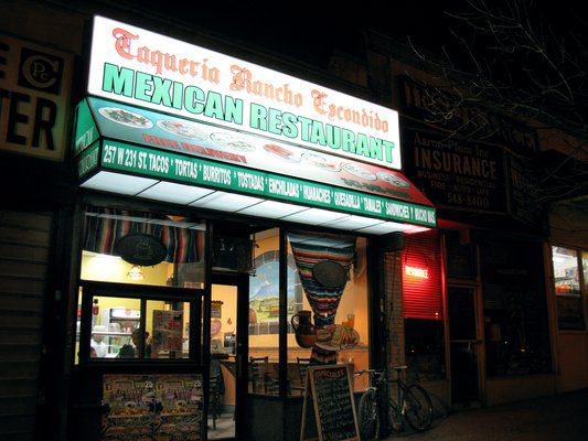 One Reader Shows Some Love To Taqueria Rancho Escondido In Kingsbridge Is Hands Down The Best Mexican I Ve Had New York