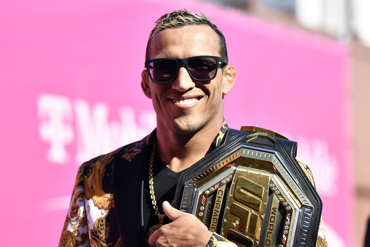 Charles Oliveira won the title at UFC 264, against Michael Chandler.