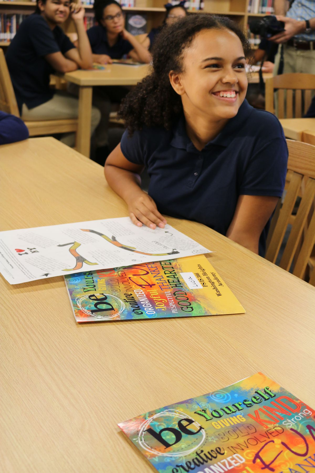Lucia Herndon, a seventh grade student at Washington Heights Academy M.S. 366, talks about her college plans.
