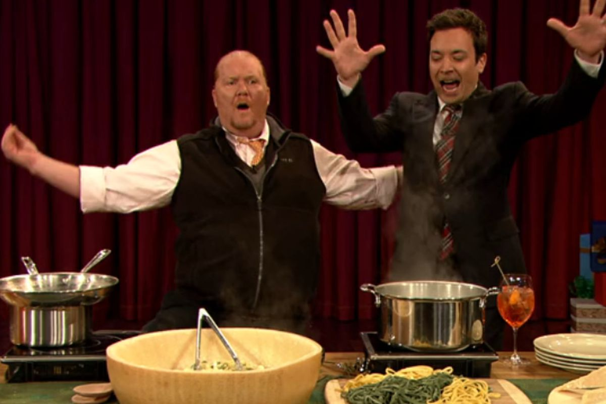Watch Mario Batali on Late Night With Jimmy Fallon - Eater