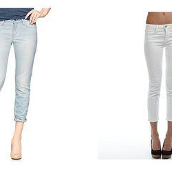 "The Expected: Light Wash Denim – The Update: <b>Joe's Jeans</b> White Crop at <b>National Jean Company,</b> <a href=""http://www.denimhabit.com/denim-boyfriend/white-crop"">$158.00</a>"