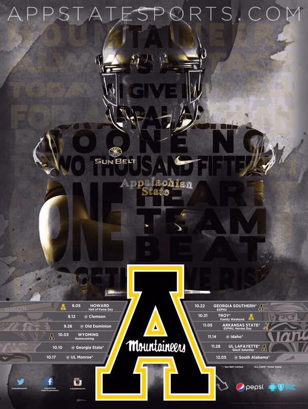 Appalachian State 2015 Poster