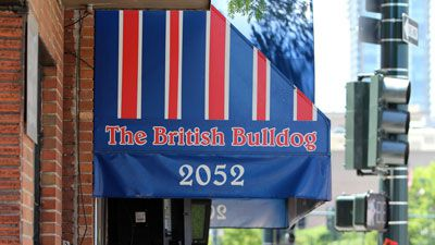 A photo of the awning of The British Bulldog